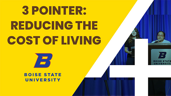 Video of the 3 Pointer: Reducing the Cost of Living presentation